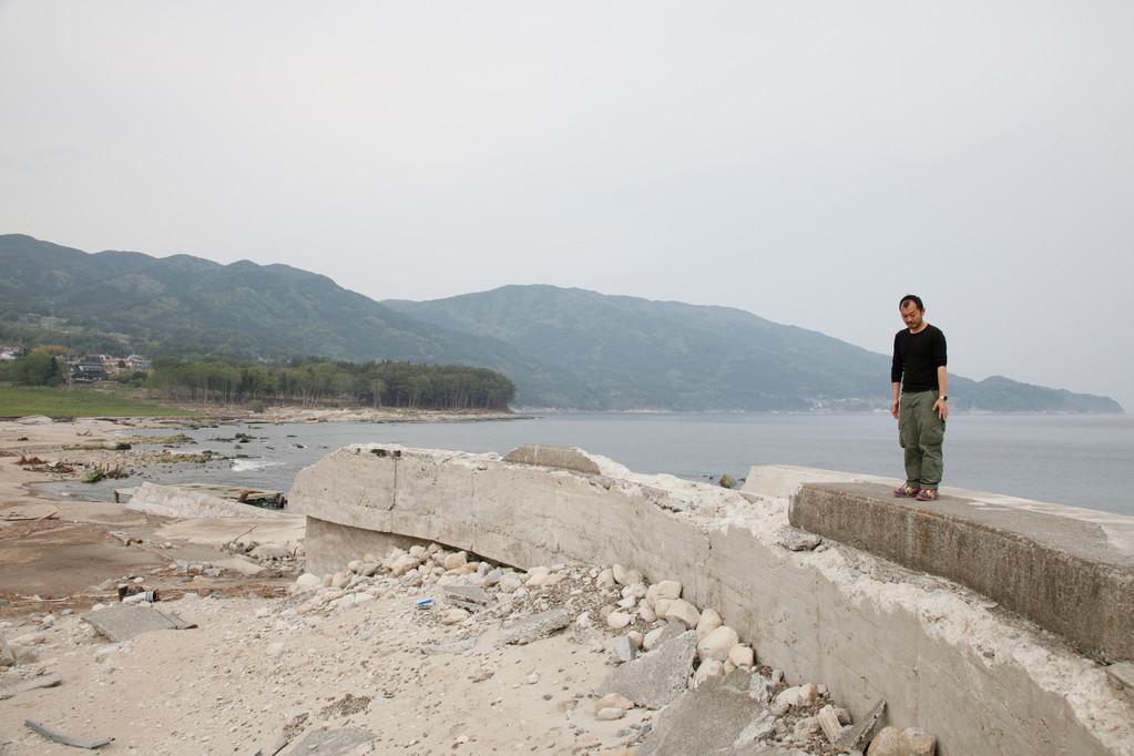 吉浜海水浴場の防波堤