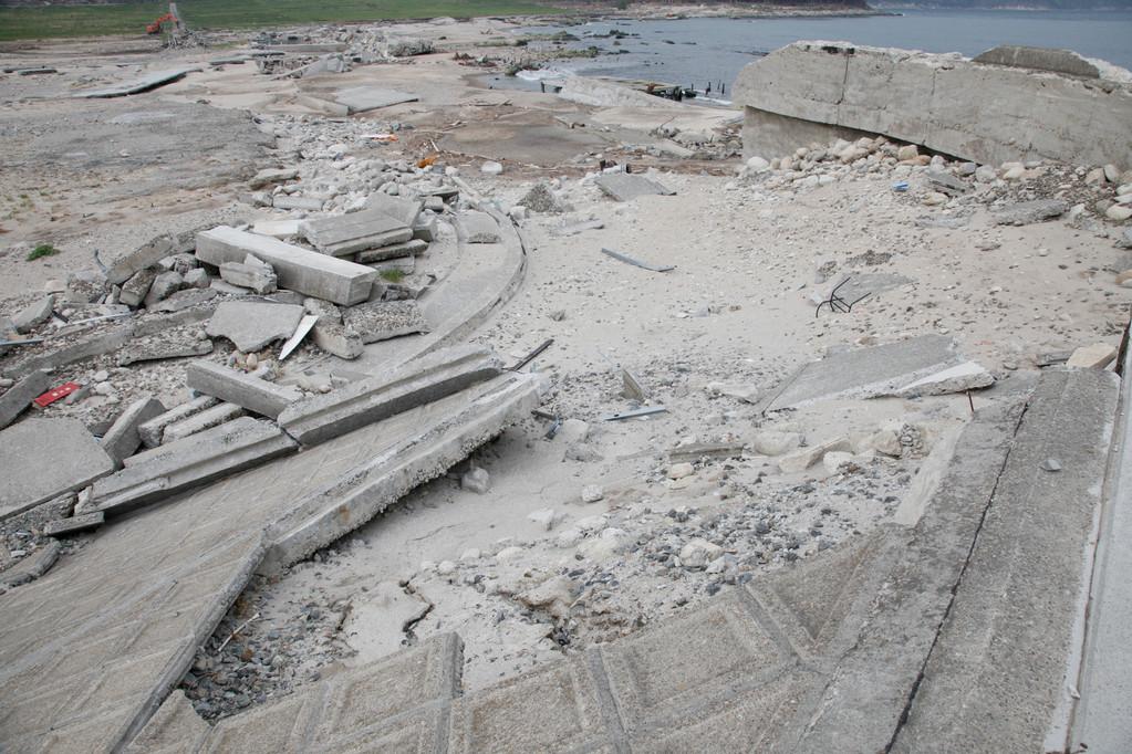 吉浜海水浴場前の民宿キッピンのあった場所