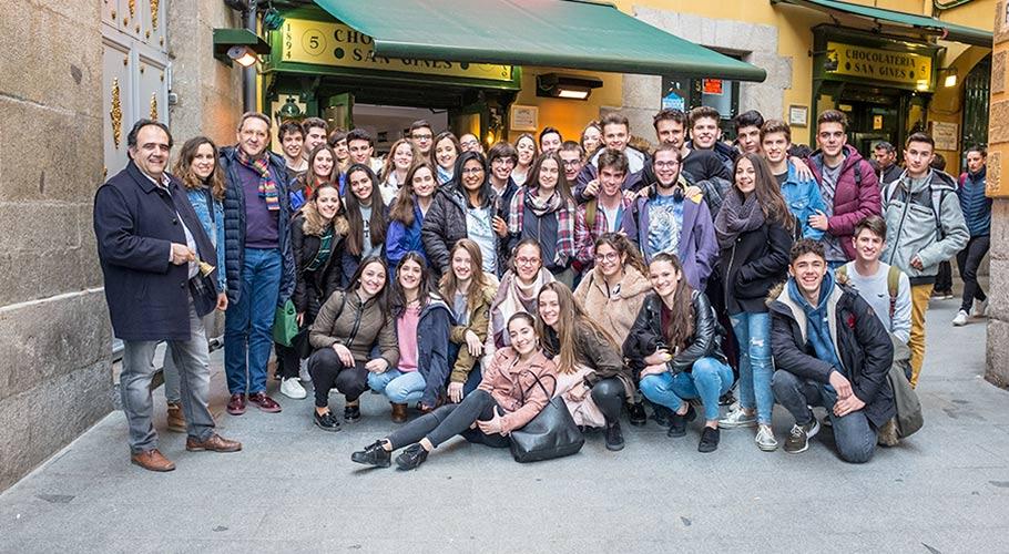 Estudiantes de 2º de Bachillerato en Madrid