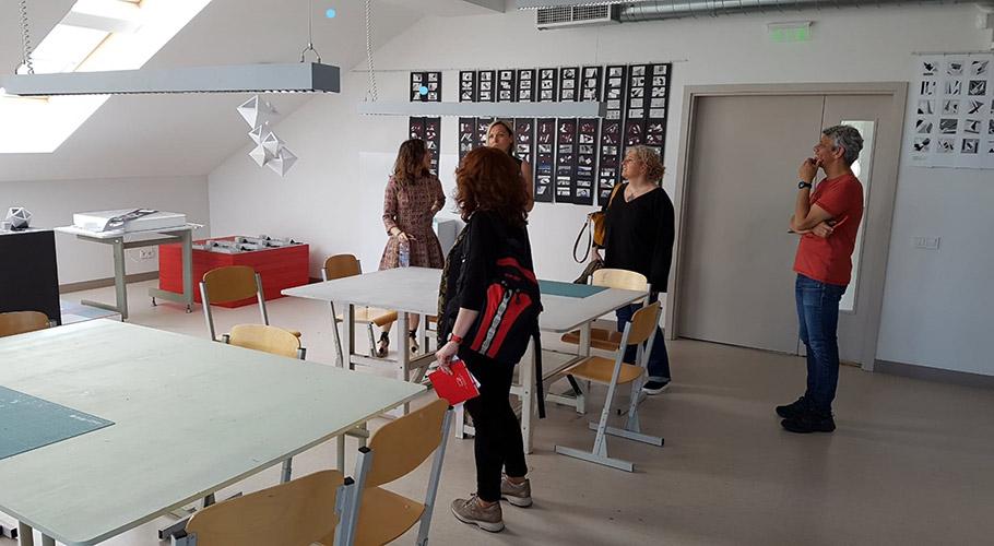 Profesores del centro en instituto de Riga - programa Erasmus+