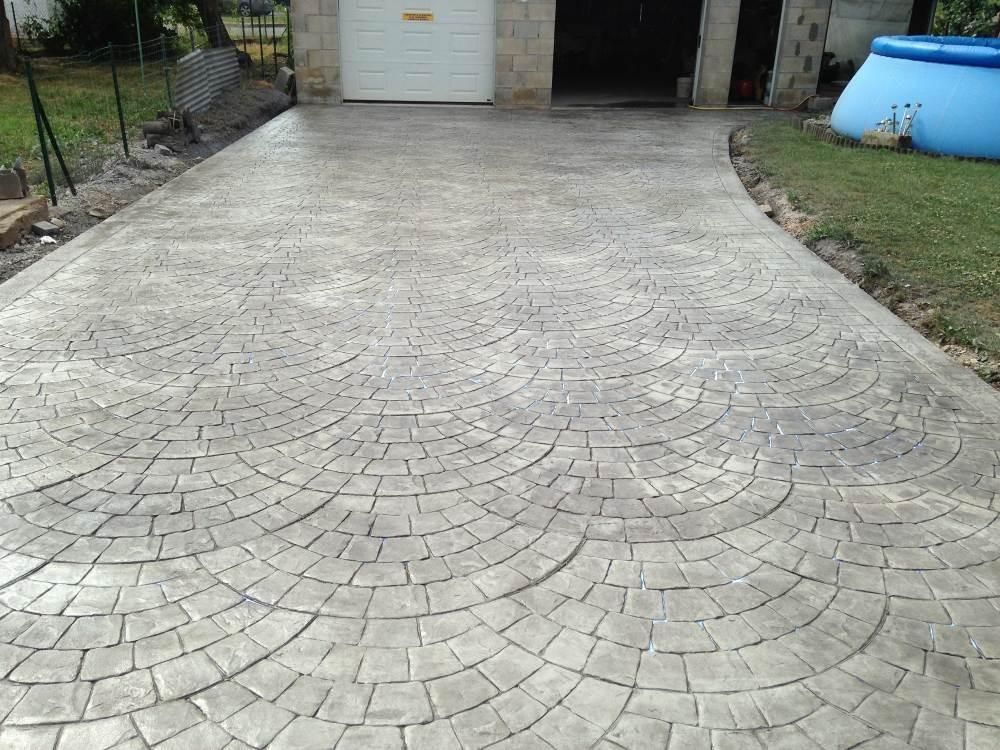 Le b ton imprim graphic beton imprime strasbourg alsace for Prix beton imprime