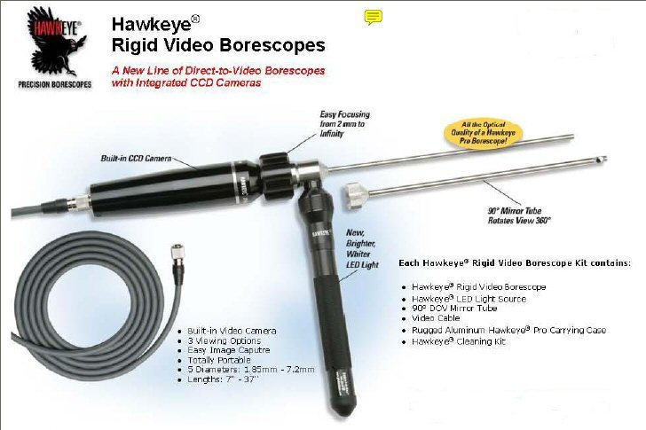 """New"" Hawkeye Video Borescopes"