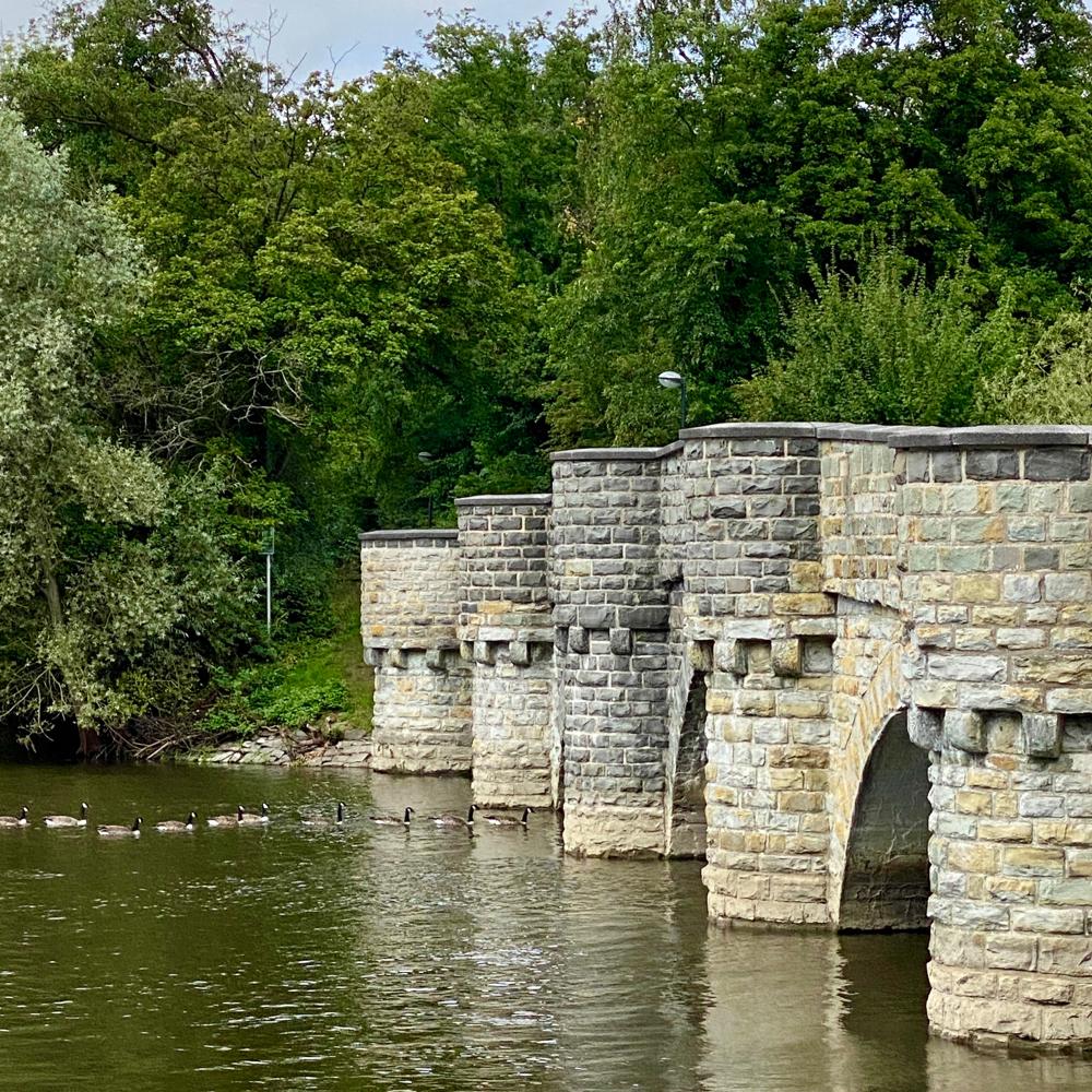 die Kanzelbrücke ist eine der schönsten Steinbrücken Deutschlands