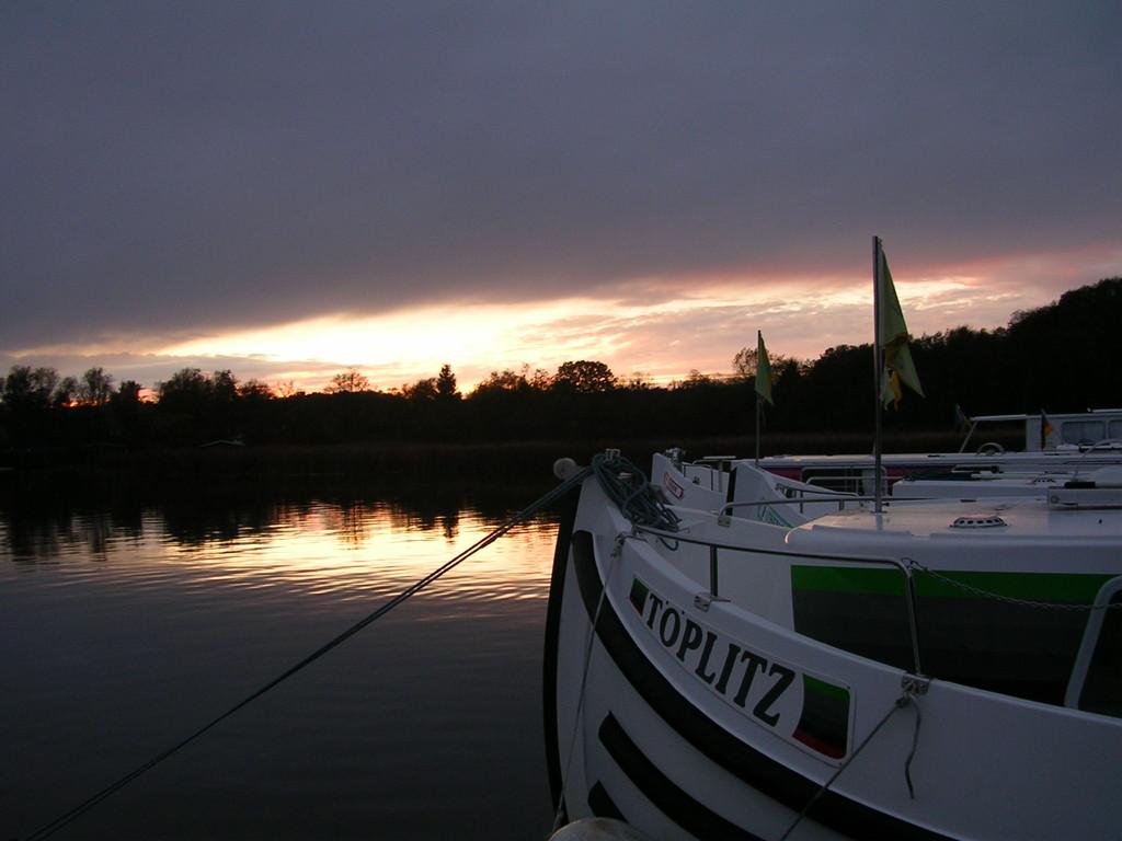Sonnenuntergang in Fürstenberg