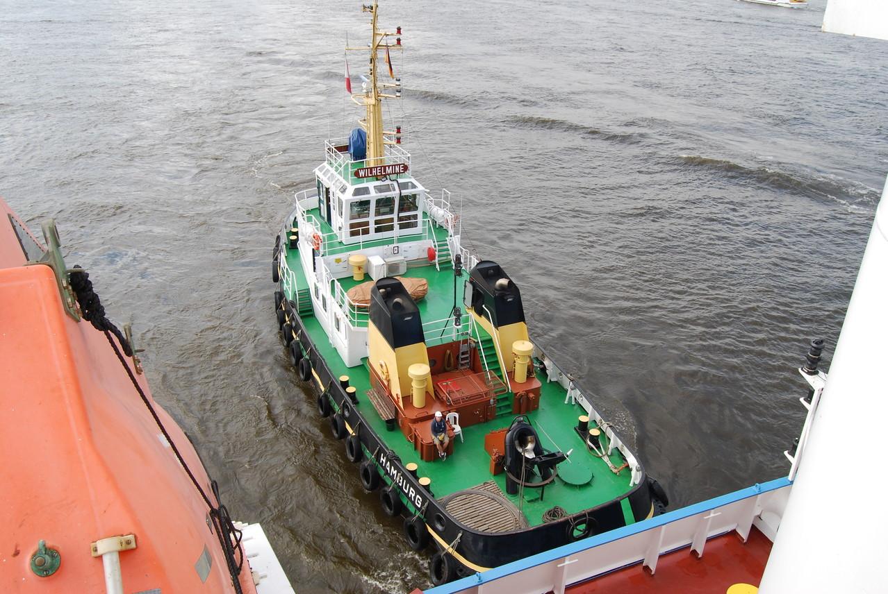 """Der Schlepper """"Wilhelmine"""" in Hamburg"""