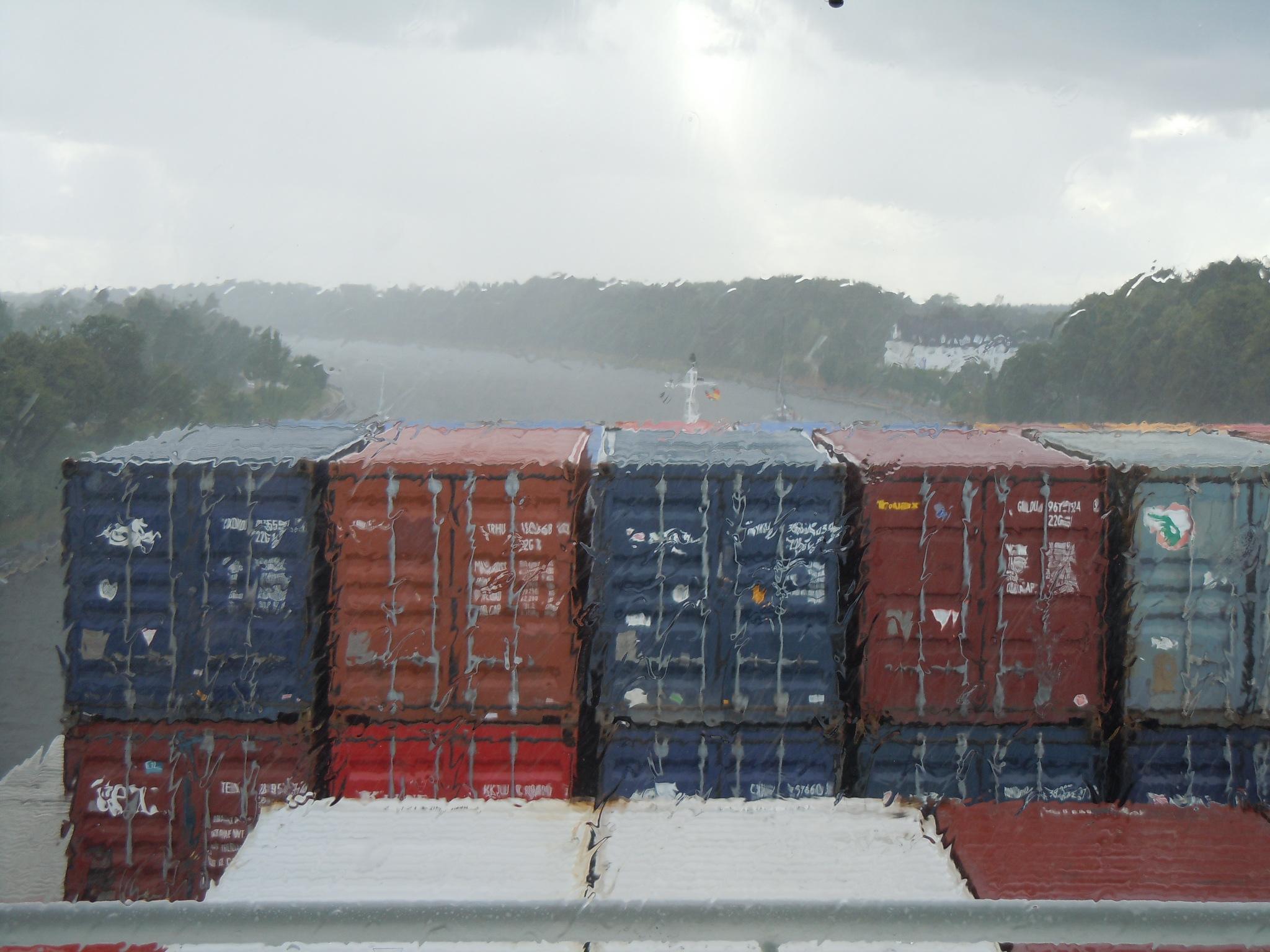 Regen im Nord- Ostseekanal