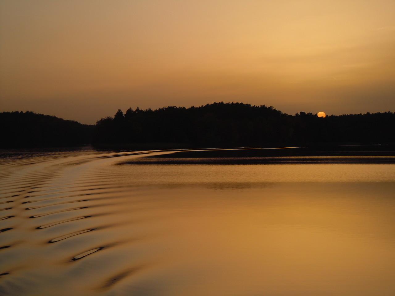Abendstimmung auf den Zechliner Gewässern