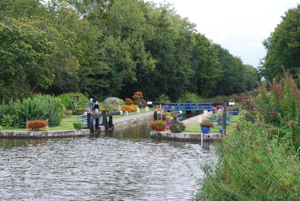 Schleuse auf dem Canal d'Ille-et-Rance