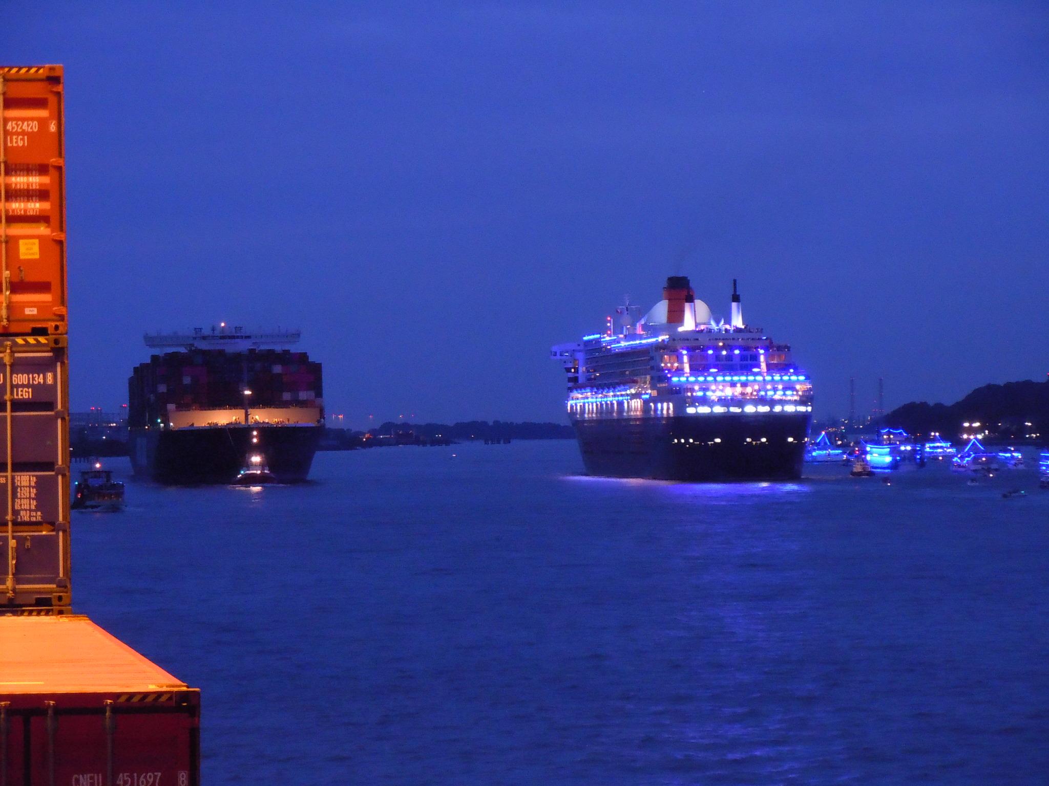 Letzte Abendstimmung an Bord