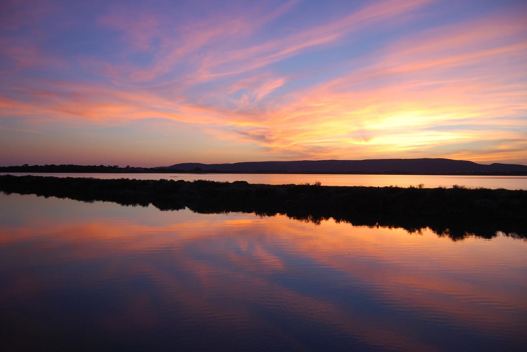 Sonnenuntergang in der Camargue