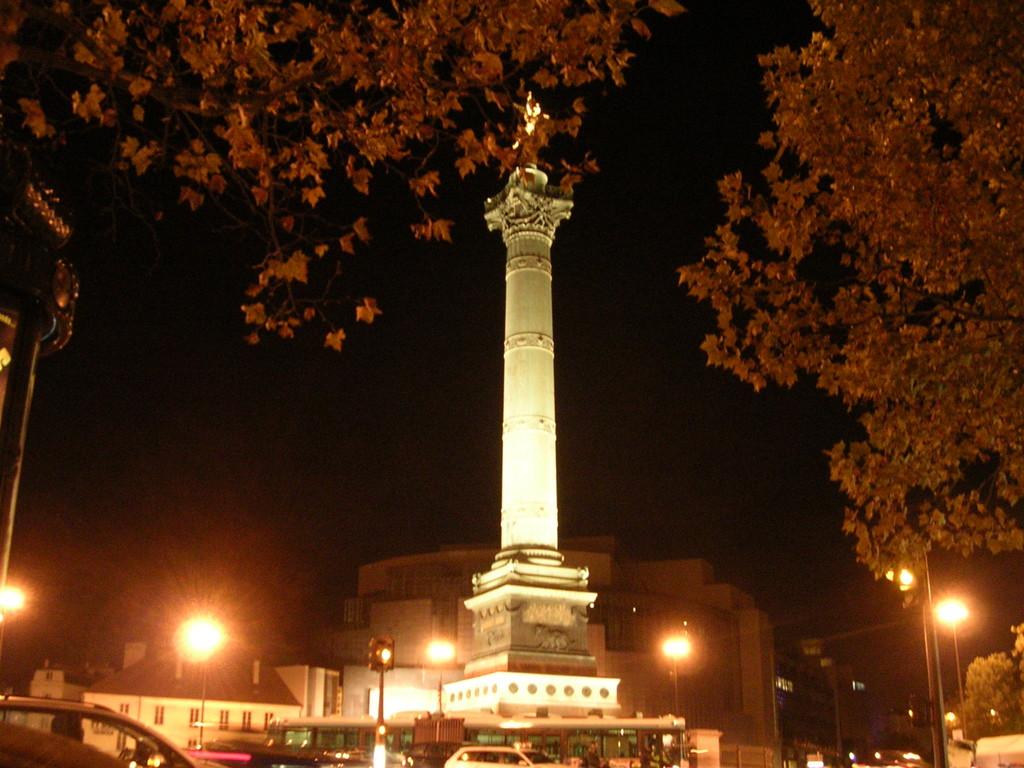 Place de la Bastille by Night