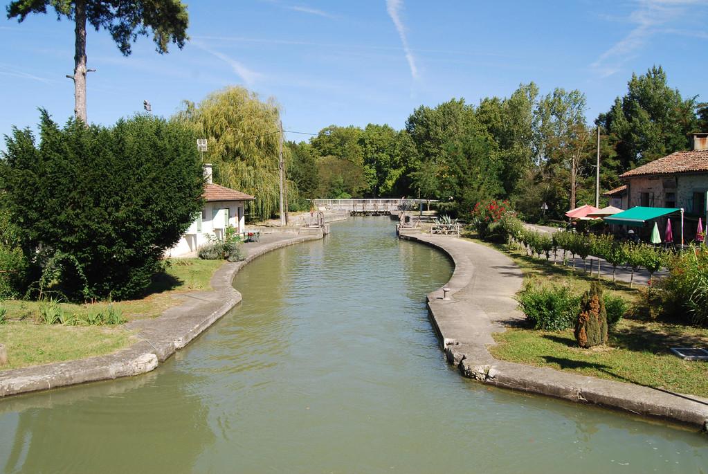 Doppelschleuse Castanet am Canal du Midi