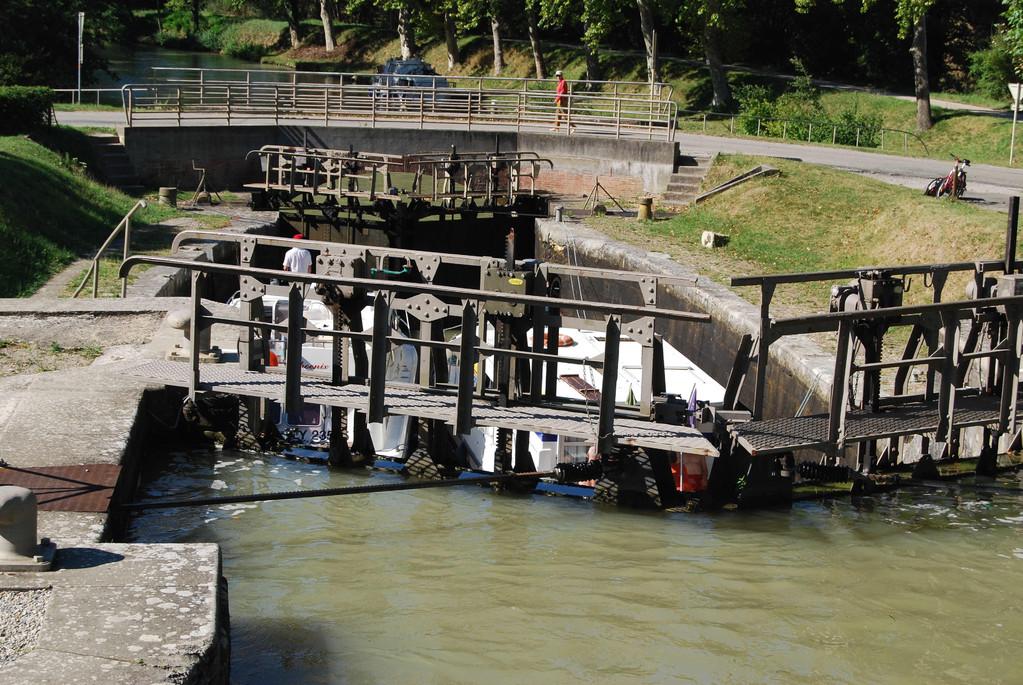 Doppelschleuse Sanglier am Canal du Midi