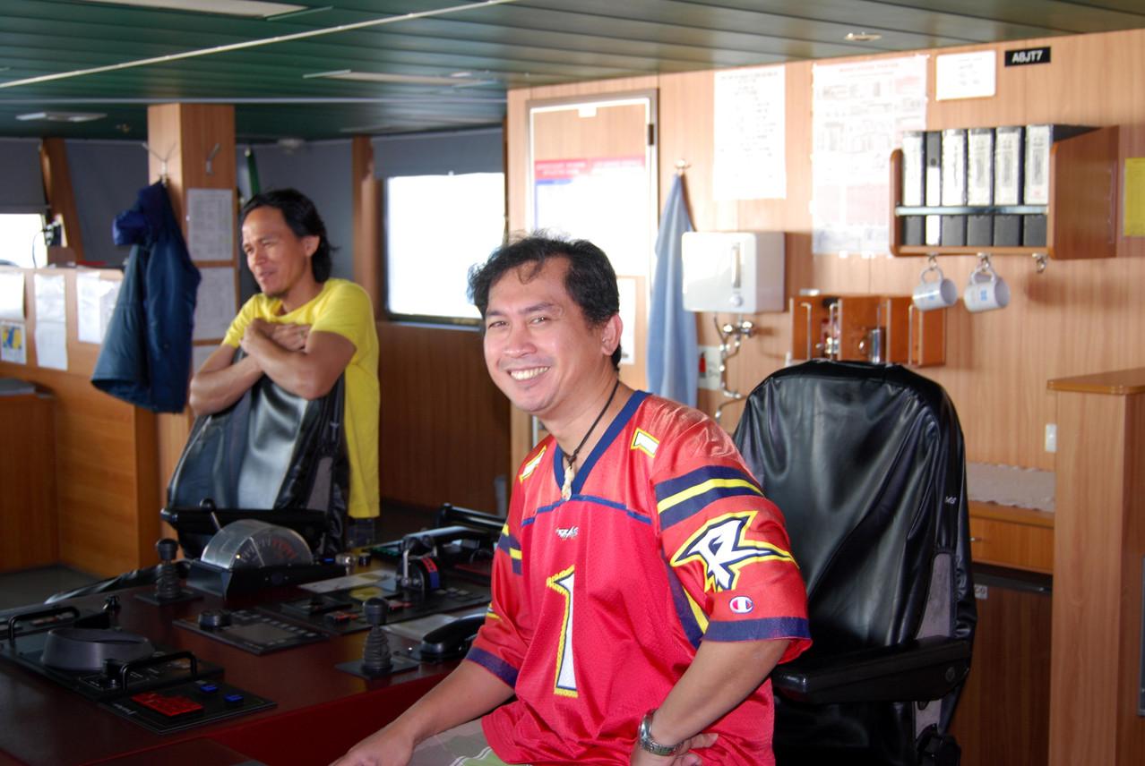 Unser Kapitän (vorne) und Uriel