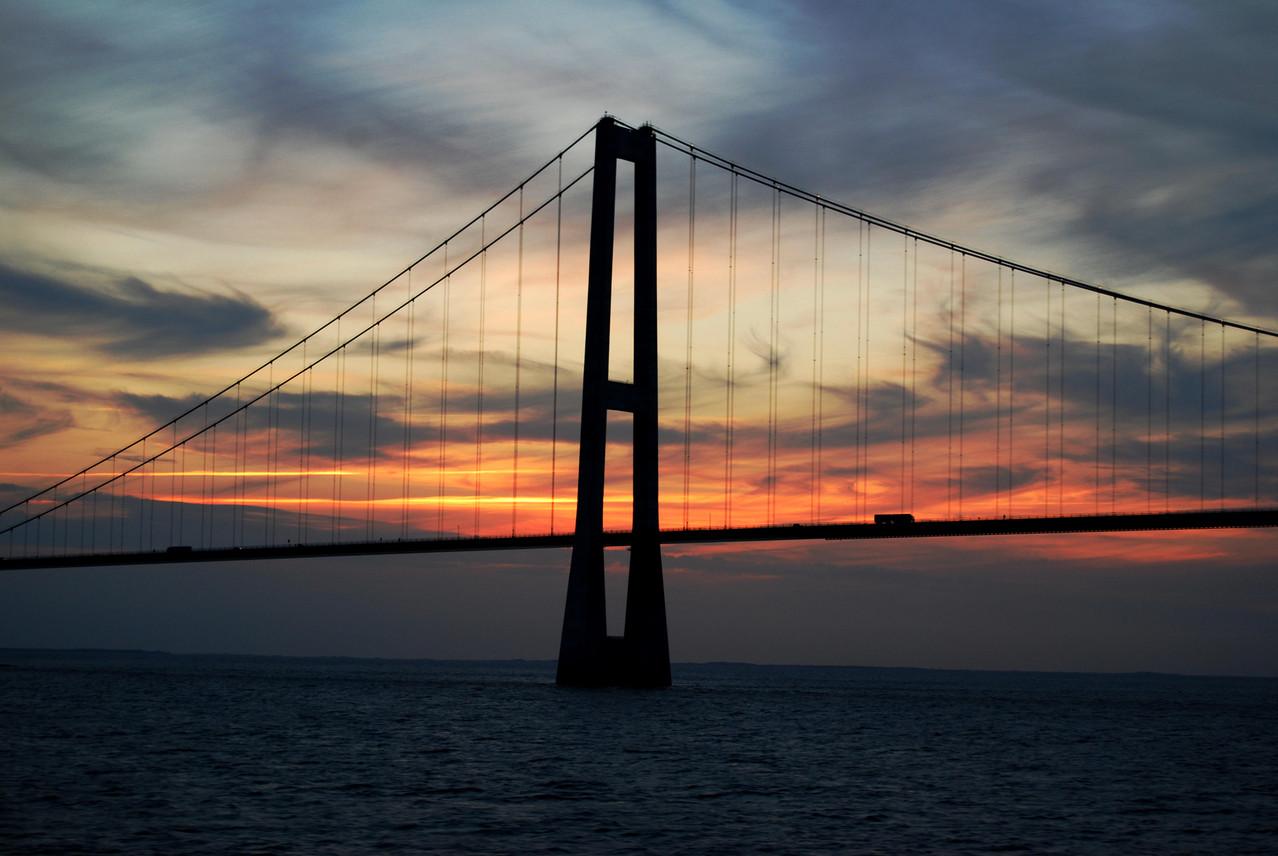 Storebaeltbrücke auf der Rückfahrt