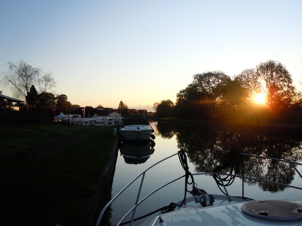 Sonnuntergang in Lagarde (Canal Marne au Rhin)