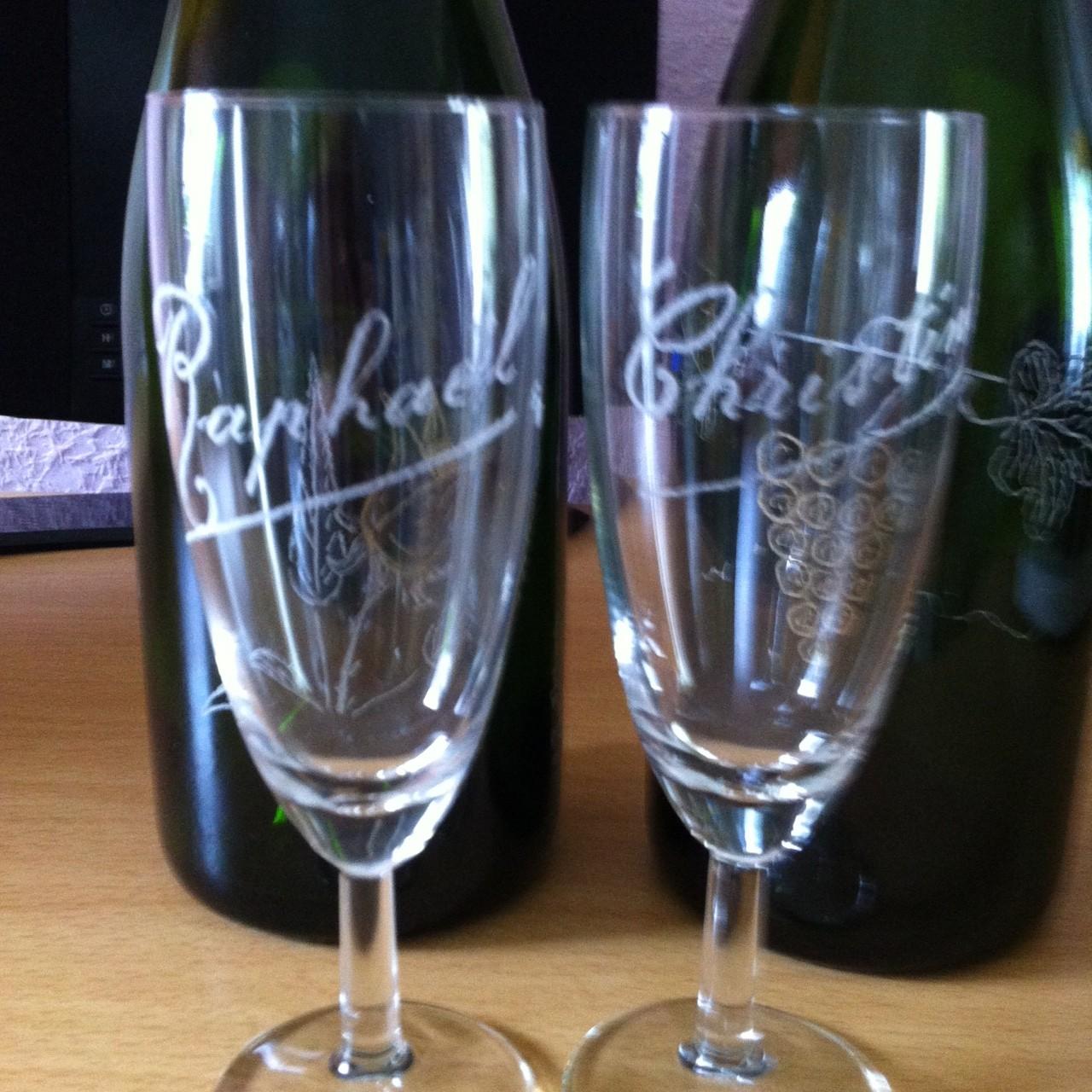 Les verres offerts à chaque participant.