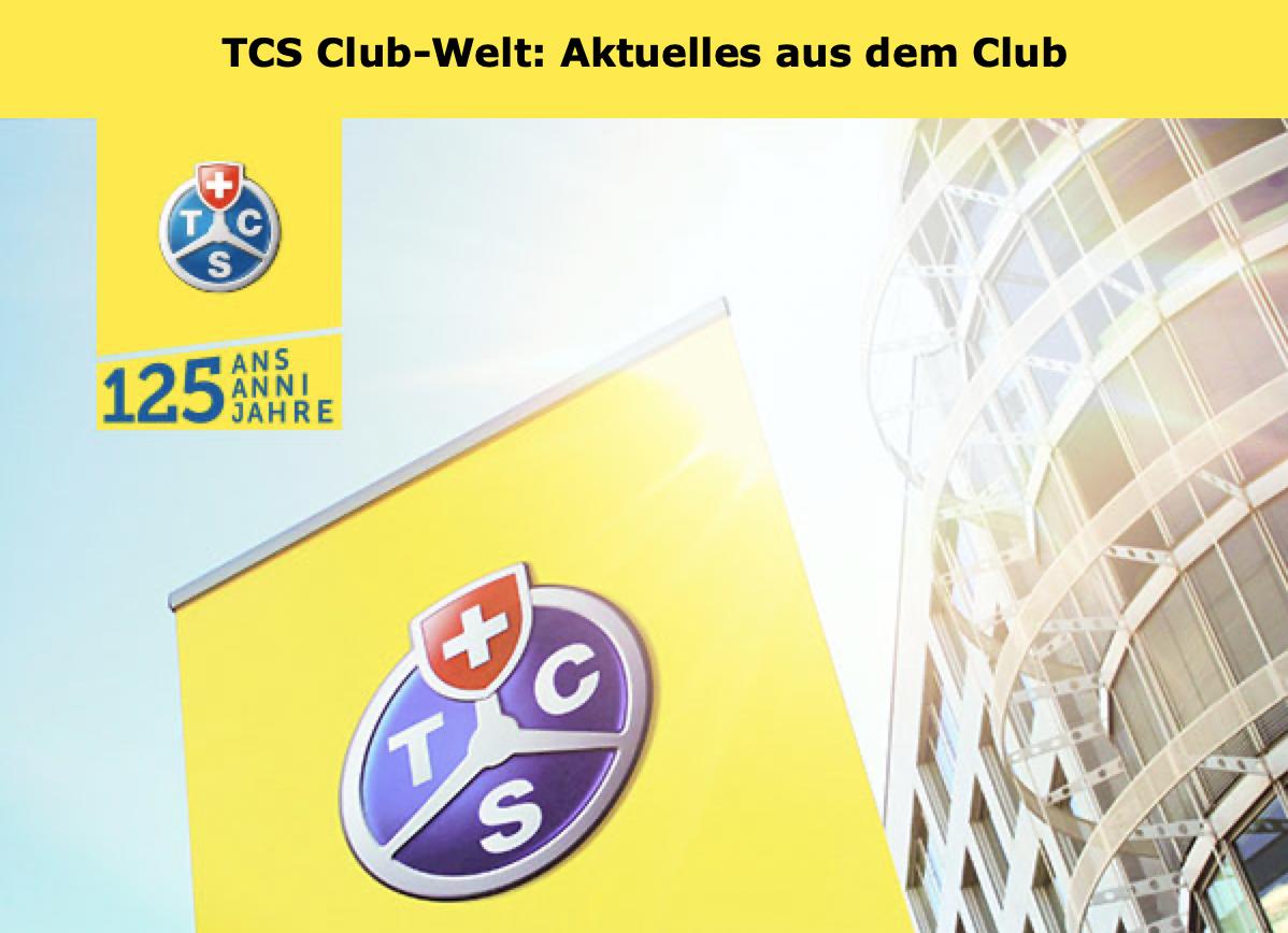 TCS Club-Welt: Infos und Tipps für Mitglieder