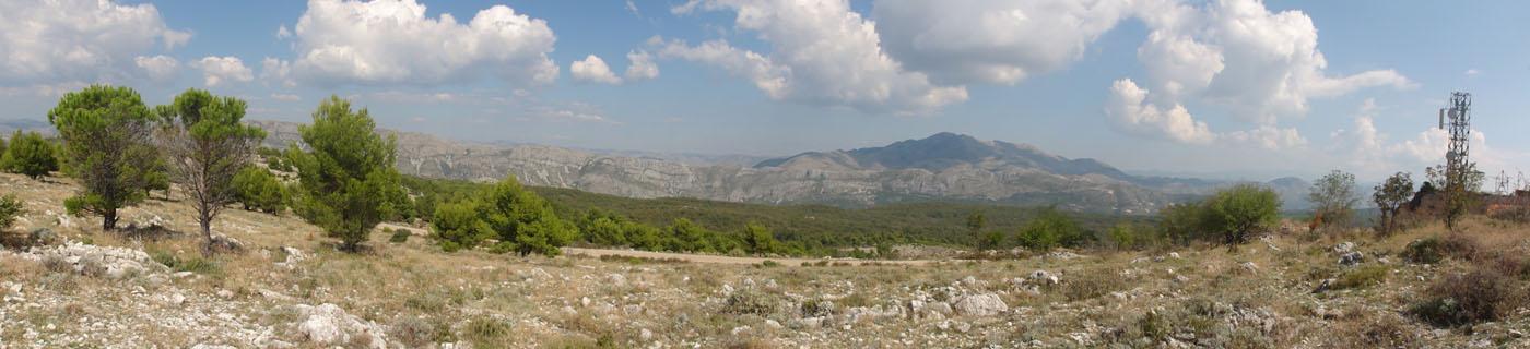 Das Panorama vom bosnischen Hinterland