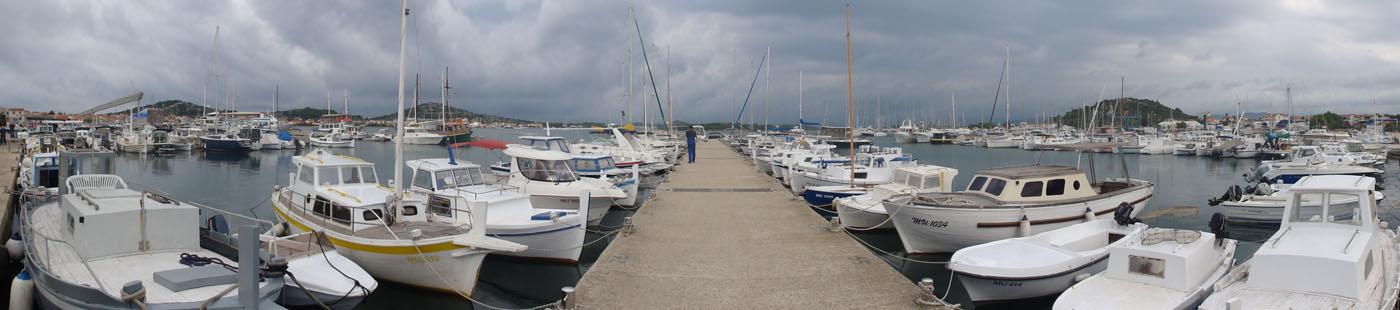 Hafen-Panorama von Murter