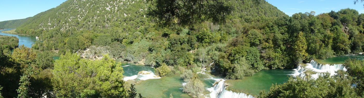 Panorama von den Krka-Wasserfällen