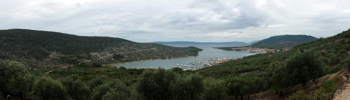 Panorama der Bucht von Cres