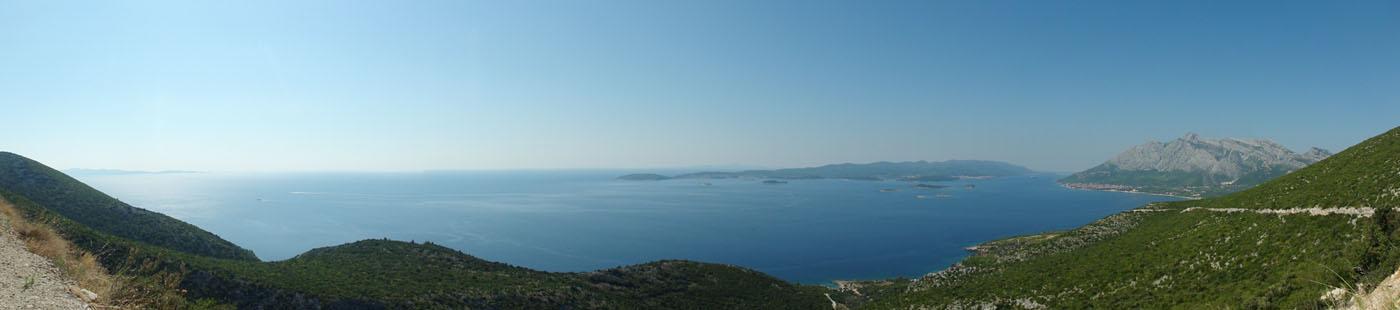 Panorama Richtung Korčula