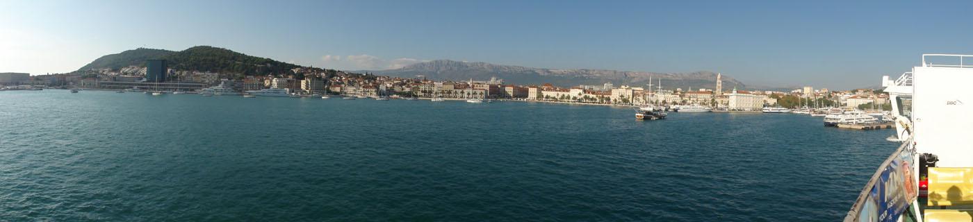 Hafenpanorama von Split