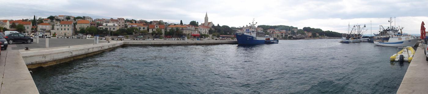 Hafen-Panorama von Pučišća