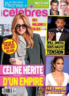 Céline Dion - Couverture Riches et Célèbres Magazine  [Canada] (28 Janvier 2016)