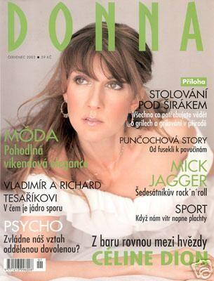 Celine Dion - Couverture Donna Magazine [Italie] (Juillet 2003)