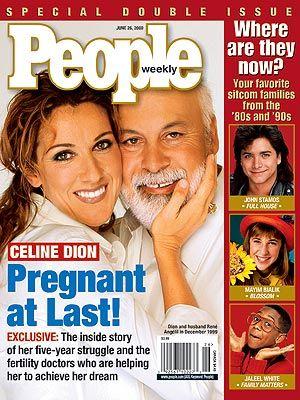 Celine Dion et René - Couverture People Magazine [USA] (26 Juin 2000)