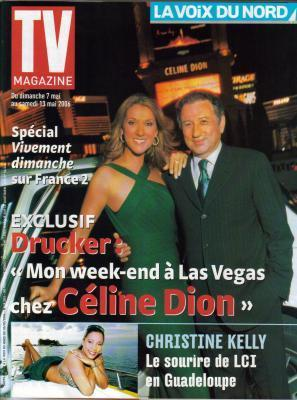 Céline Dion, Michel Drucker - Couverture TV Magazine  [France] (7 mai 2006)