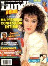 Céline Dion - Couverture Le Lundi Magazine [Canada] (31 Octobre 1987)