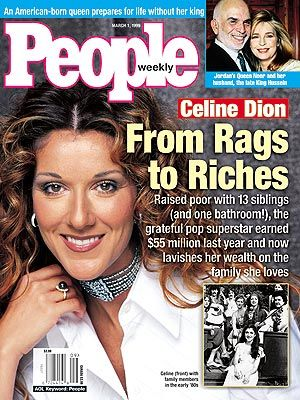Celine Dion - Couverture People Magazine [USA] (1 Mars 1999)