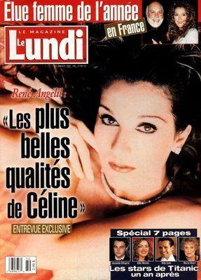 Céline Dion - Couverture Le Lundi Magazine  [Canada] (23 Janvier 1999)
