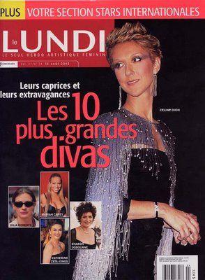 Céline Dion - Couverture Le Lundi Magazine  [Canada] (16 Aout 2003)