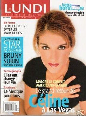 Céline Dion - Couverture Le Lundi Magazine  [Canada] (29 Mars 2003)