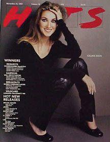 Celine Dion - Couverture HITS Magazine [Grande-Bretagne] (21 Novembre 1997)