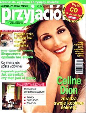 Celine Dion - Couverture Przyjaciółka Magazine [Pologne] (Juin 2002)