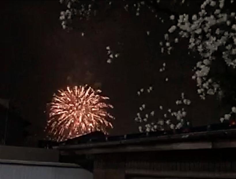 2021年3月13日(土)本庄市内で卒業・進級を祝う花火が打ち上げられました。