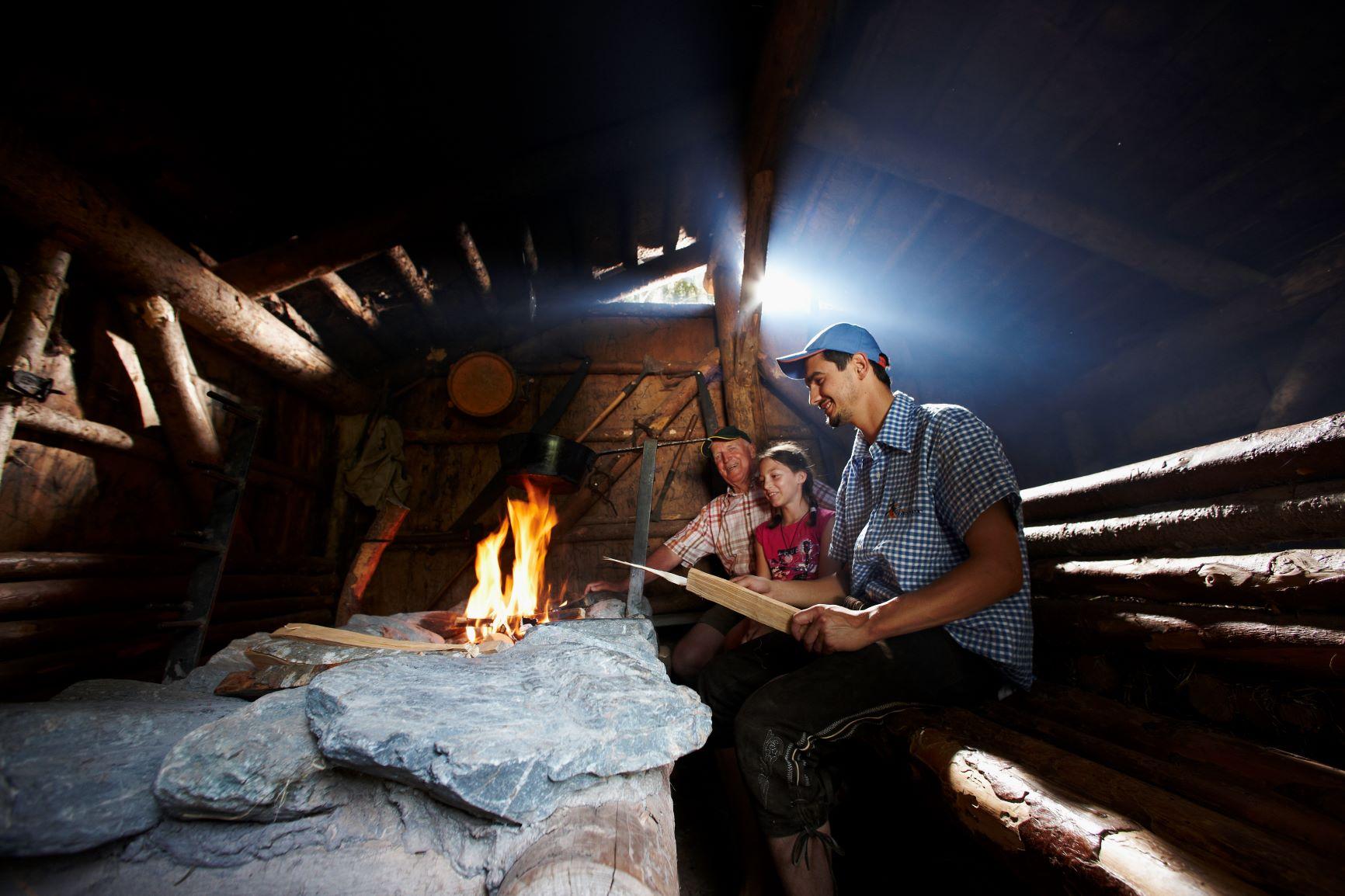 Lagerfeuer in der Holzknechtsölde