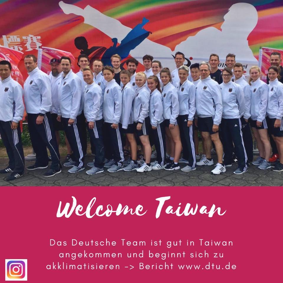 Anreise der DTU-Nationalmannschaft in Taipeh