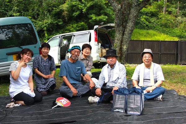 2013.7月 田瀬キャンプの後片付けで アウトドア行事には欠かせない人だった