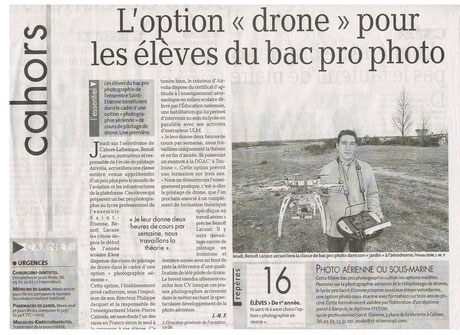 Option Télépilotage de Drone pour les Bac Pro
