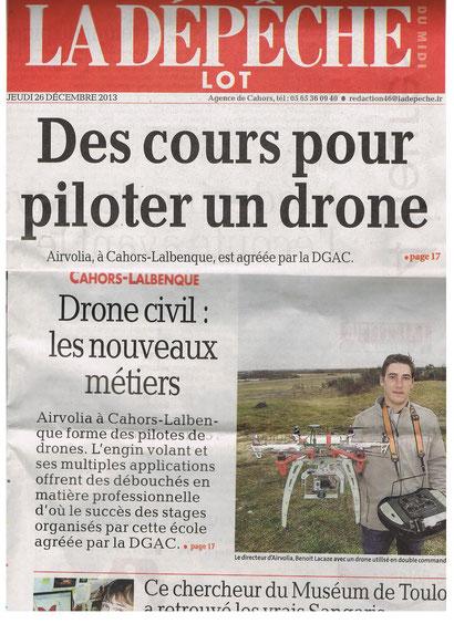 La formation au télépilotage de drone