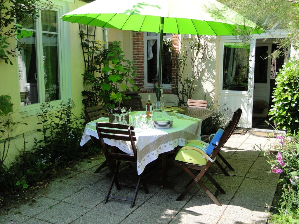 coin repas sous le parasol