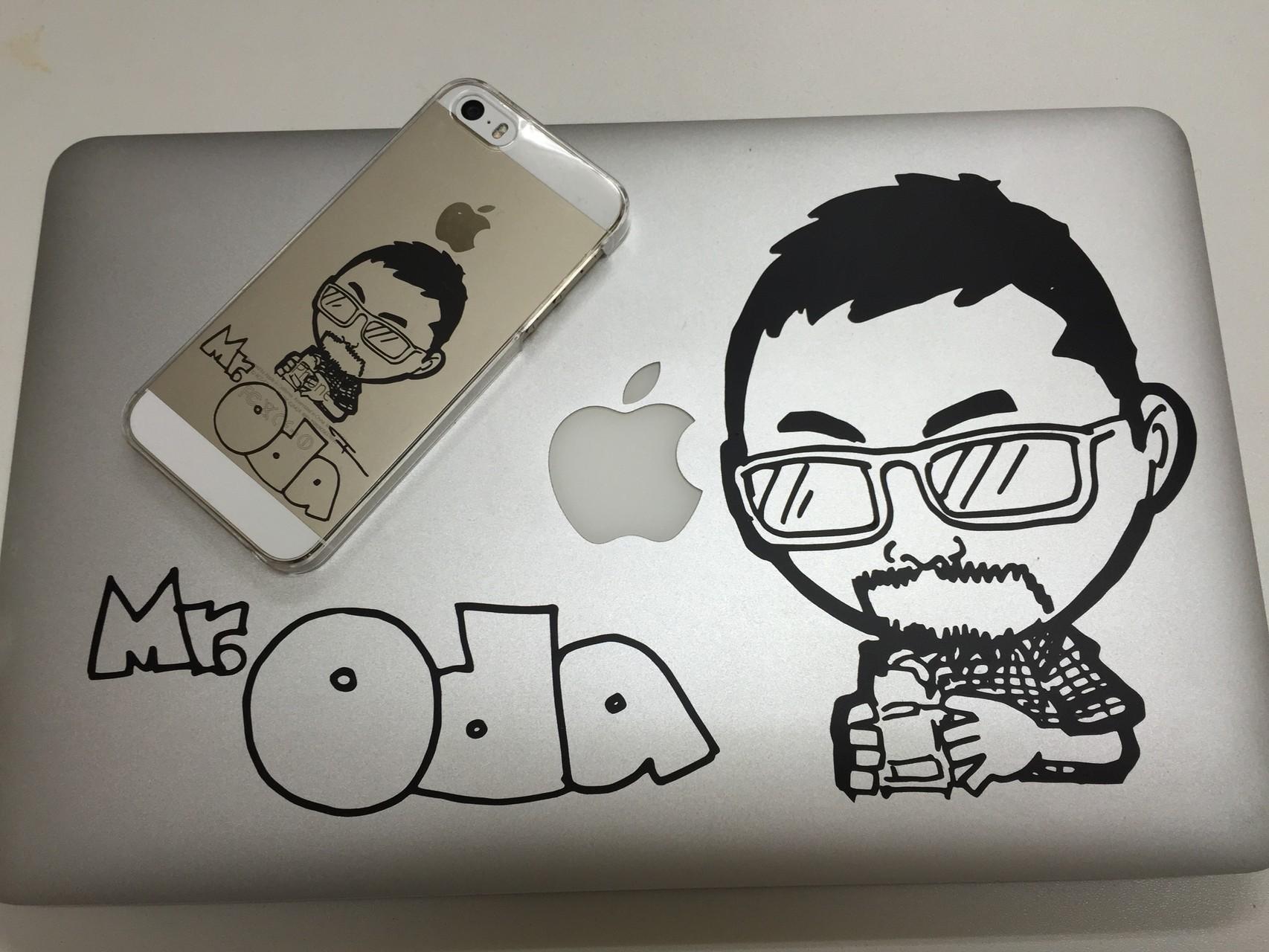 似顔絵ステッカー/iPhone・MacBookAir