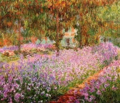 CLAUDE MONET - Iris garden
