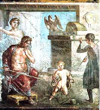Eracle, figlio di Giove e di Alcmena, uccide i due serpenti